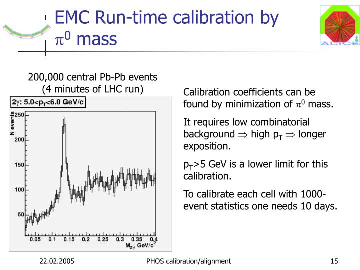 EMC Run-time calibration by
