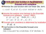 enva min cost function in the ensemble forecast error subspace