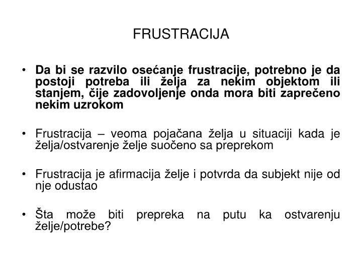 FRUSTRACIJA
