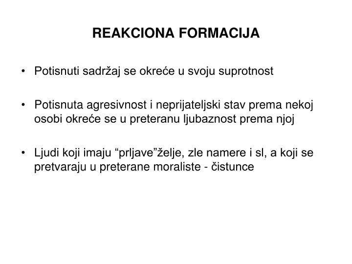 REAKCIONA FORMACIJA