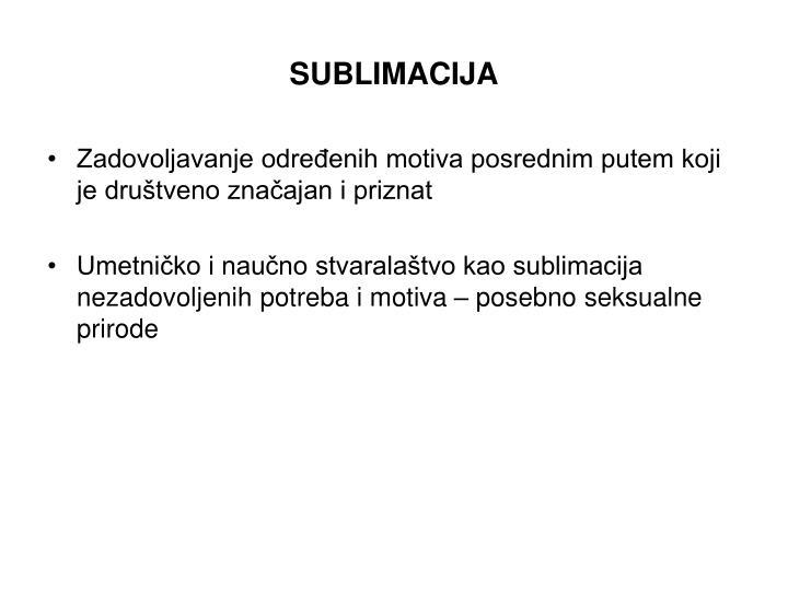 SUBLIMACIJA