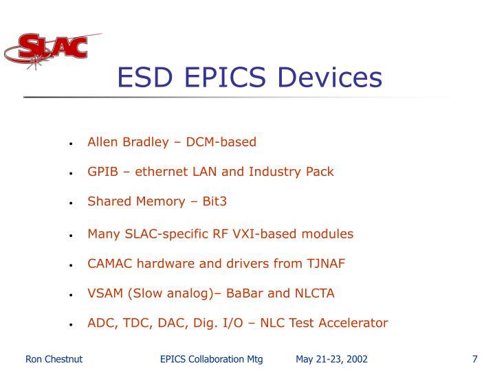 ESD EPICS Devices