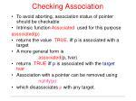 checking association
