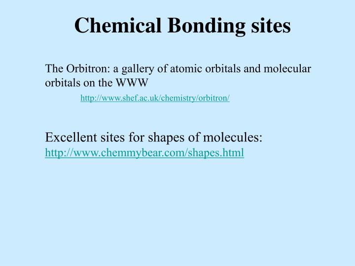 Chemical Bonding sites