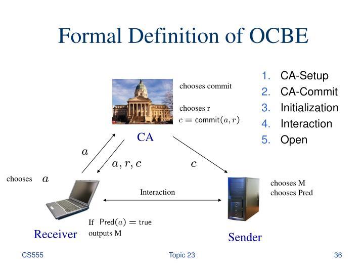 Formal Definition of OCBE
