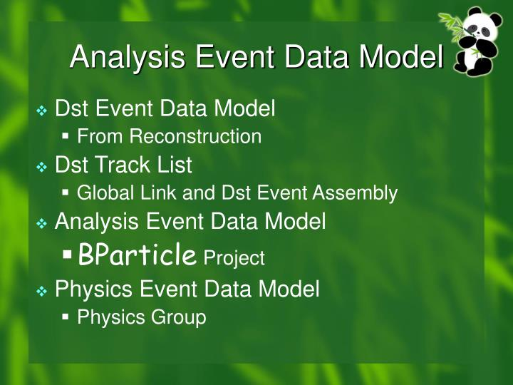 Analysis Event Data Model