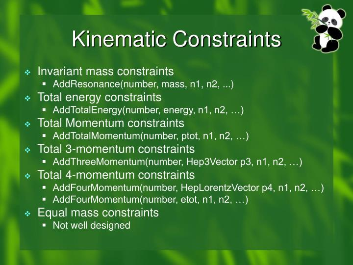 Kinematic Constraints