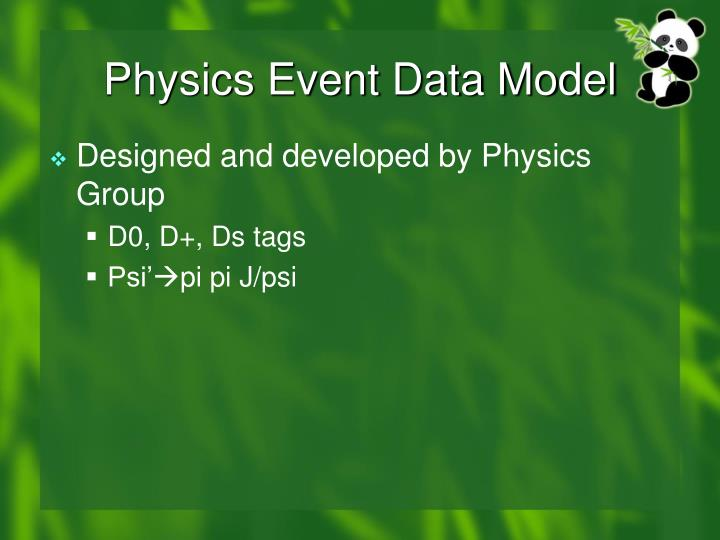 Physics Event Data Model
