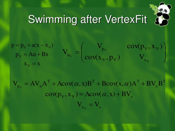 Swimming after VertexFit