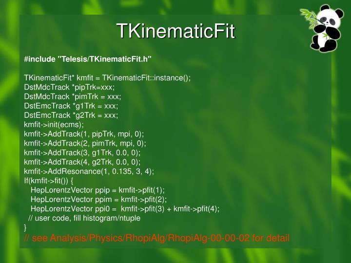 TKinematicFit