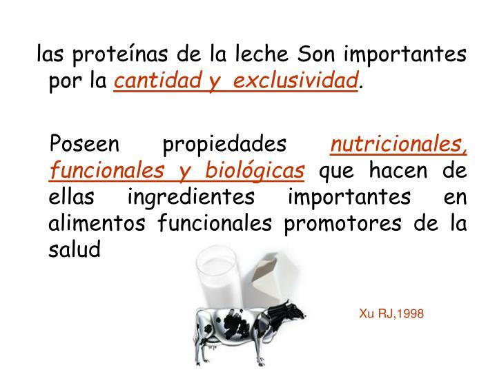las proteínas de la leche