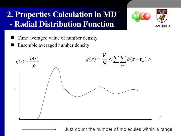 Time averaged value of number density