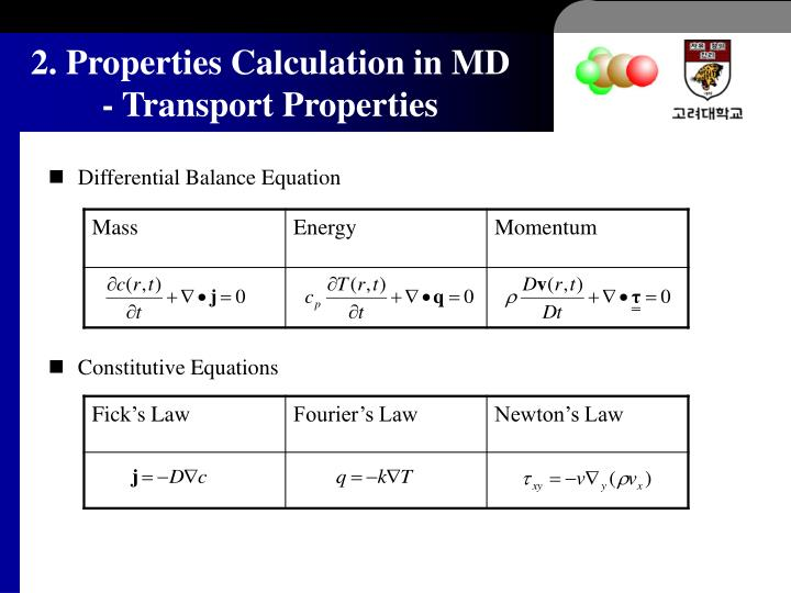 Differential Balance Equation