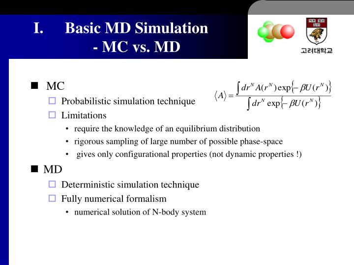 Basic MD Simulation