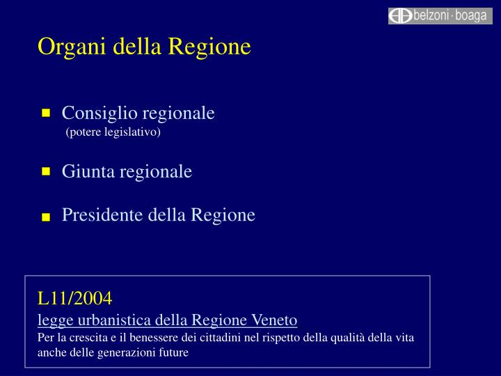 Organi della Regione
