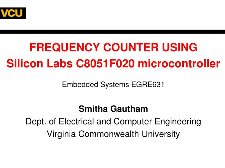 FREQUENCY COUNTER USING