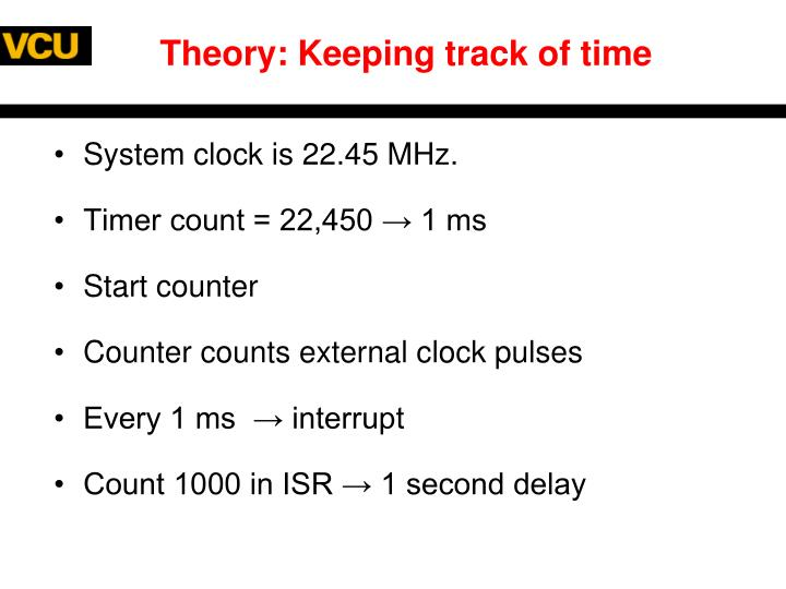 Theory: Keeping track of time