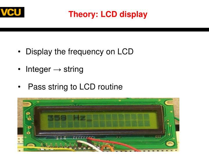 Theory: LCD display