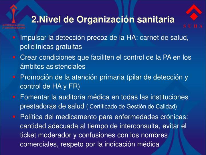 2.Nivel de Organización sanitaria