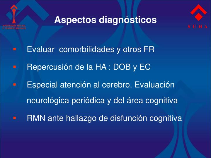 Aspectos diagnósticos