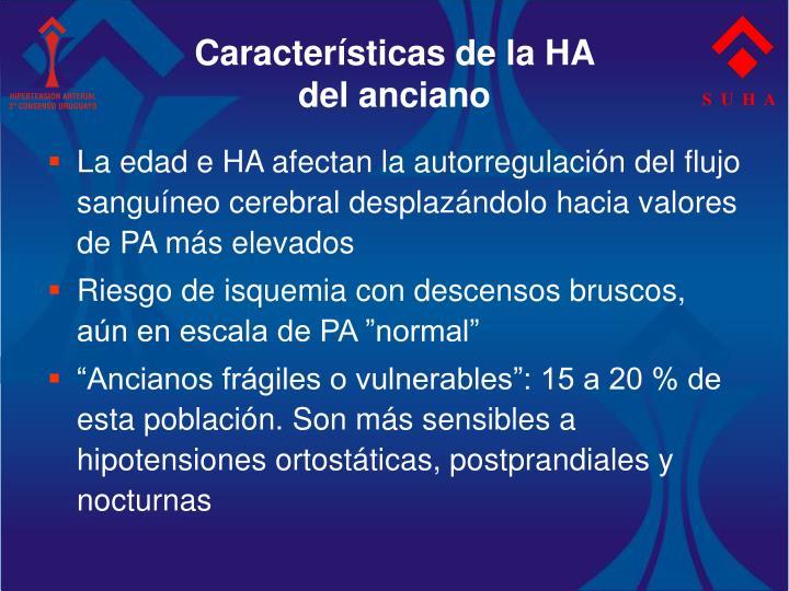 Características de la HA