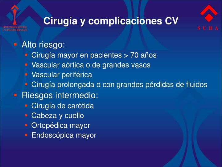 Cirugía y complicaciones CV