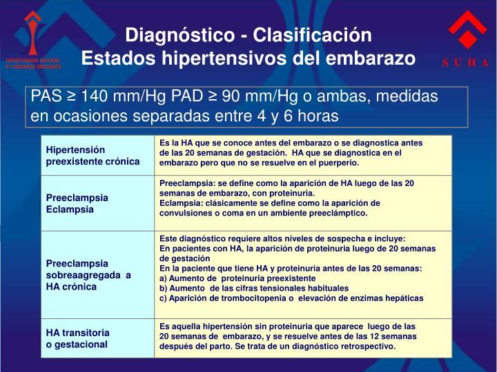 Diagnóstico - Clasificación