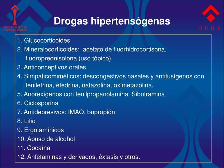 Drogas hipertensógenas