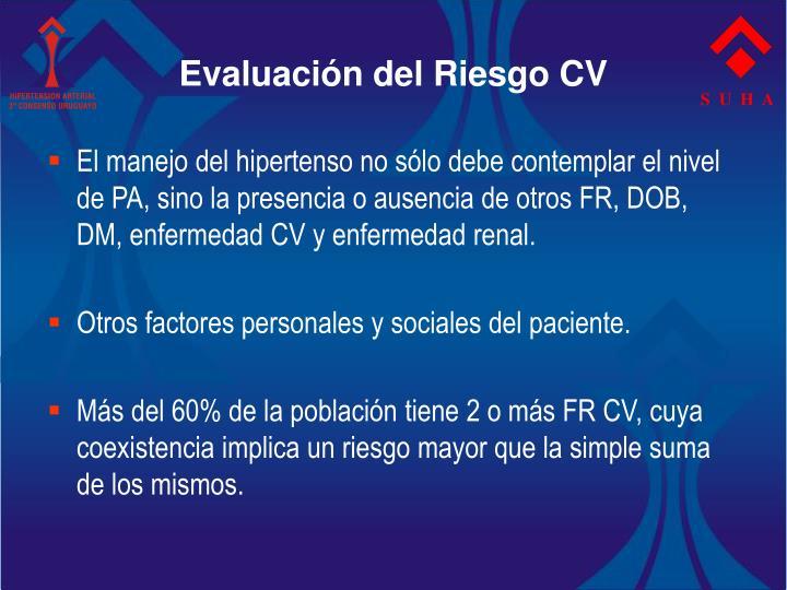 Evaluación del Riesgo CV