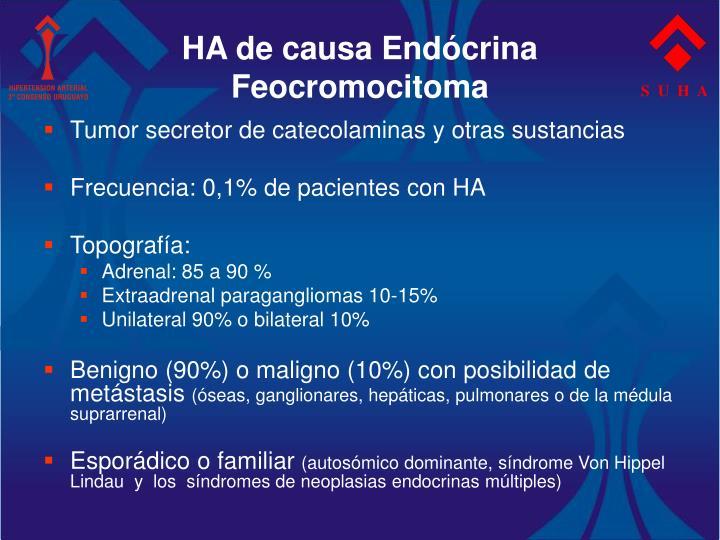 HA de causa Endócrina