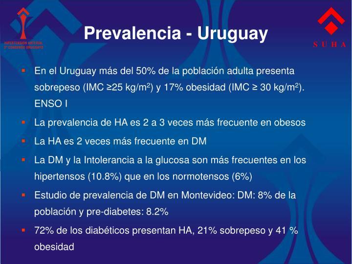 Prevalencia - Uruguay