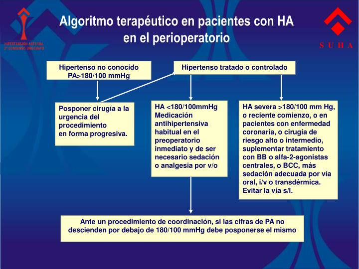 Algoritmo terapéutico en pacientes con HA