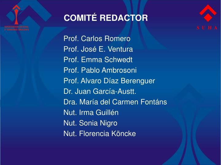 COMITÉ REDACTOR