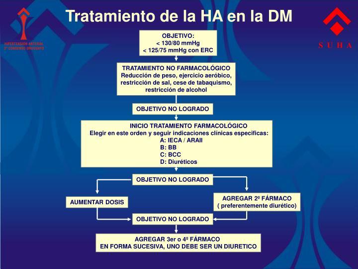Tratamiento de la HA en la DM