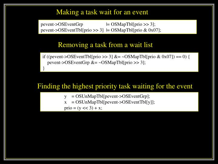 pevent->OSEventGrp                   |= OSMapTbl[prio >> 3];