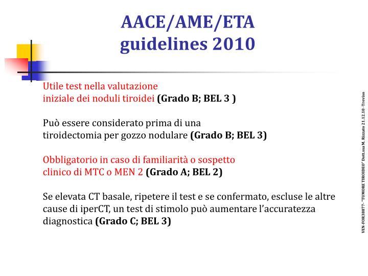 AACE/AME/ETA
