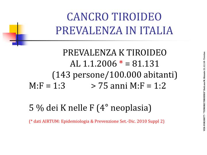 CANCRO TIROIDEO