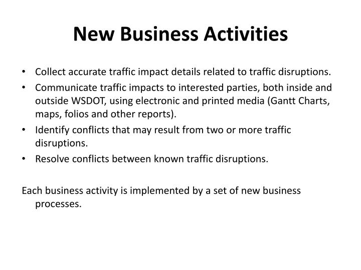 New Business Activities