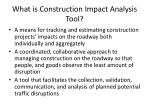 what is construction impact analysis tool