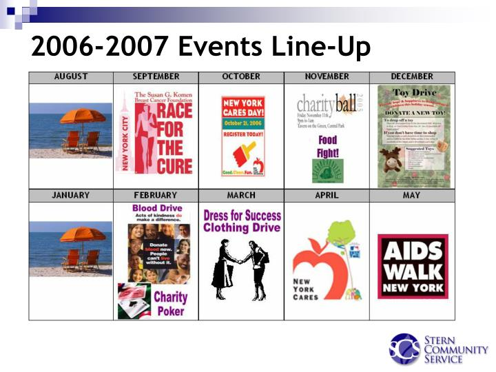 2006-2007 Events Line-Up