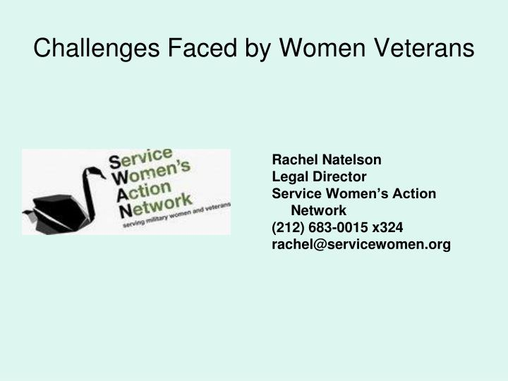 Challenges Faced by Women Veterans