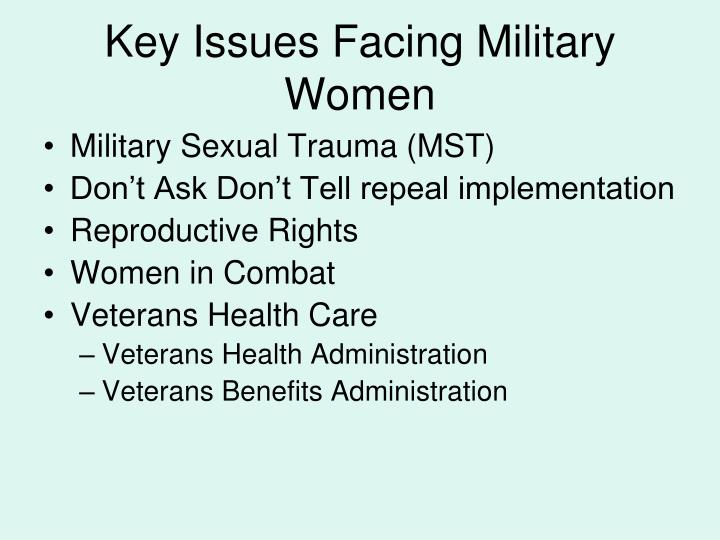 Key Issues Facing Military Women