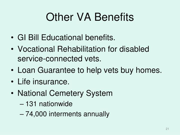 Other VA Benefits