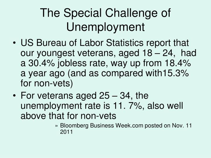 The Special Challenge of Unemployment