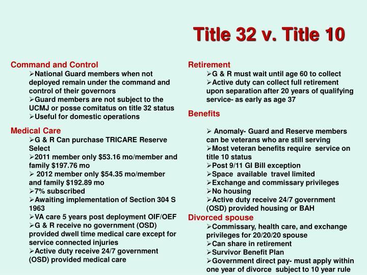Title 32 v. Title 10
