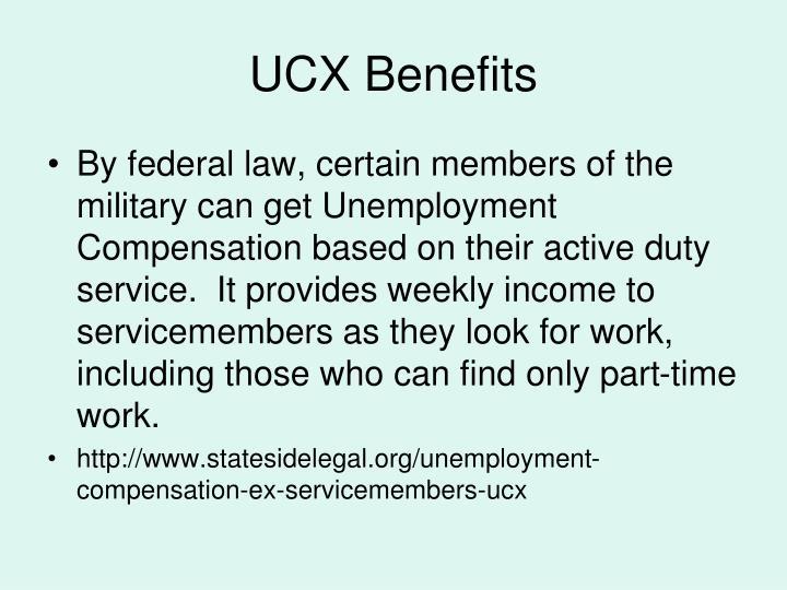 UCX Benefits