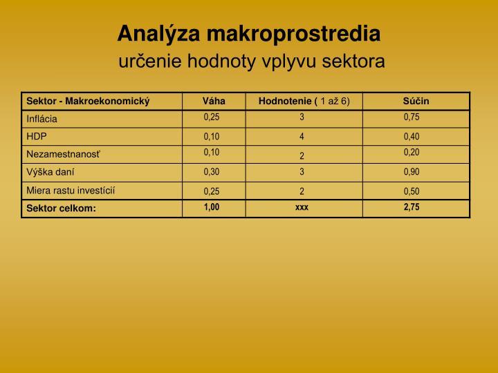 Analýza makroprostredia