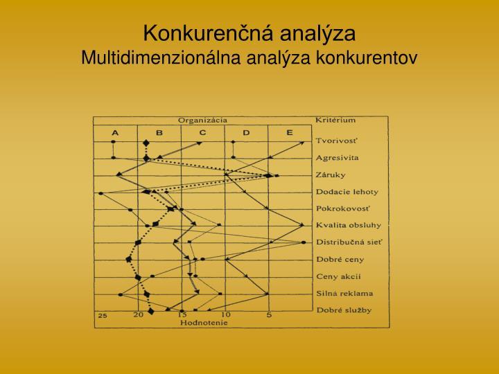 Konkurenčná analýza