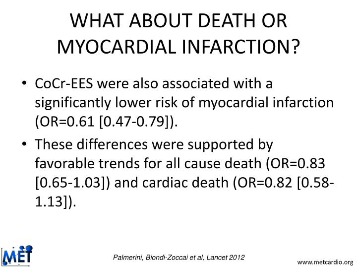 WHAT ABOUT DEATH OR MYOCARDIAL INFARCTION?