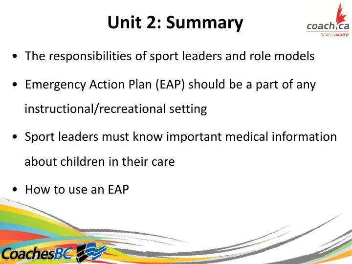 Unit2:Summary